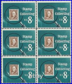#1474 VAR. STAMP COLLECTING MINT BLOCK/6 With PRE-PRINT PAPER FOLD ERROR BP0797