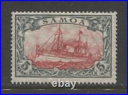 1915 German colonies Samoa 5 Mark issue mint, peace print, $ 475.00