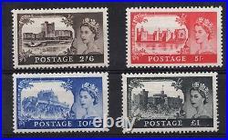 1955. SG536-SG539. Set Waterlow 1st printing Castles. Fine unmounted mint
