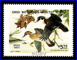 1982 OHIO 1st. Of STATE WATERFOWL PRINT with MINT STAMP VF
