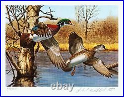 1983 NEW HAMPSHIRE 1st. Of STATE WATERFOWL PRINT with MINT STAMP VF