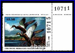 1984 MAINE 1st. Of STATE WATERFOWL PRINT with MINT STAMP VF