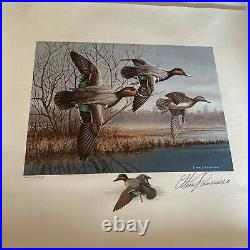 1990 LOUISIANA State Duck Print And Stamp Mint AP & ARTIST SIGNED