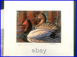 1993 Federal Duck Stamp Print DIAMOND EDITION with Mint & Signed Stamps & Folio
