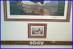 1998 # RW65 Signed Federal Duck Print & Stamp Framed Triple Matted UV Glass