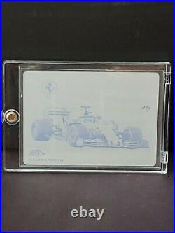 1/1 2020 Topps Chrome Sapphire Formula 1 Printing Plate Sebastian Vettel, Rare