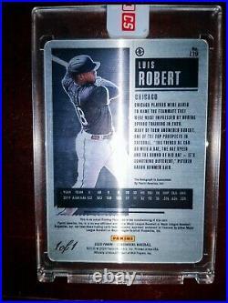 1 Of 1 2020 Contenders Printing Plate Autograph Luis Robert Metal RC