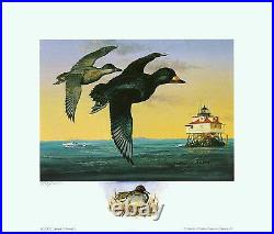 2002 MD Waterfowl Print Remarqued By Artist James Kennett With Mint Stamp
