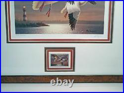 2003 # RW70 Signed Federal Duck Print & Stamp Framed Triple Matted UV Glass