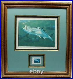 2005 Texas Saltwater Conservation Stamp Print Framed Mint New Tarpon Fish