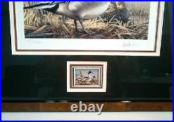 2008 # RW75 Signed Federal Duck Print & Stamp Framed Triple Matted UV Glass