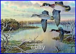 2013 Texas Waterfowl Duck Conservation Stamp Print Unframed New Mint Wood Ducks