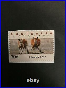 2016 Emergency Printing by Adelaide Post Office Kangaroos 30 cents Mint Superb