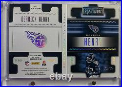 2018 Playbook Printing Plate Derrick Henry Three PatchAuto 1/1 This Is A BEAUTY