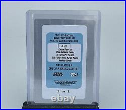 2021 Topps Star Wars Battle Plans Vice Admiral Hold Printing Plate 1/1 Auto A-LD