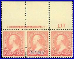 250, Mint PAIR & SINGLE COPY WITH DRY PRINTING ERROR VF OG NH Cat $300+