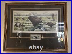 6th Annual National Audobon Society Wildlife Conservation Stamp & Print Framed