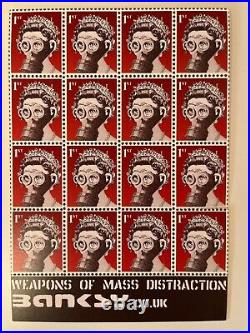 Banksy Original Weapons of Mass Distraction Postcard Stamps MINT Rare 2001