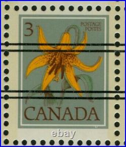 CANADA, precancelled 3c Lily dry print of green ink, #708xx var