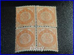 CHINA 1897 Sc#88 2c Coil Dragon Japan Print Blk/4 Mint NH VF