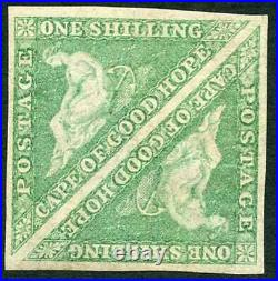 COGH SG21 1/-Bright Emerald-Green DLR Printing MINT PAIR Very Scarce