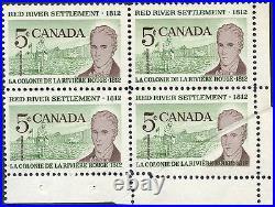 Canada #397 Var. Block Of 4 With Pre-print Paper Fold Error Bp3780