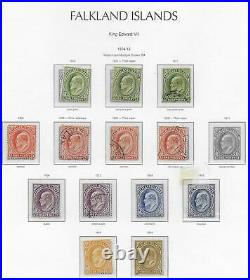 FALKLAND ISLANDS 1904-12 Hingeless printed page with mint 31004