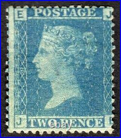 GB QV SG45 2d BLUE Plate 9 lightly mounted mint with printing Flaw RH 9 absent
