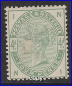 GB QV mint Surface Printed SG192 4d dull green cat. Value £580