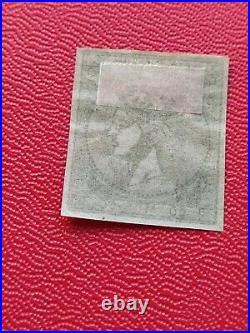 GREECE 1876 Scott 52 A1 60 l green Athens Print, Mint. Unused. MLH-great margin