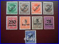 Germany Deutsches Reich Collection Of Over Prints All Mint