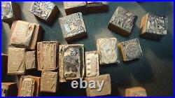 Lot (117) Vintage Antique 1940 50's Metal Advertising Stamps Print Blocks