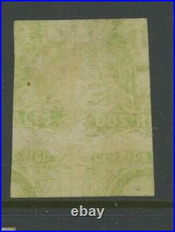 MEXICO, 1856, MINT, #3a, OG LH, PRINTED ON BOTH SIDES, CLEAN & SOUND