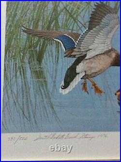 Mint In Folio First Of State 1976 South Dakota Duck Stamp & Print