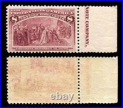 Momen US Stamps #236 Var. Printed on Both Sides Mint NH OG Rare PF Cert