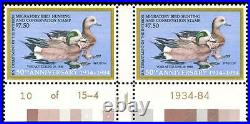 Momen US Stamps #RW51x P# Pair SPECIAL PRINTING Mint OG NH PF Cert
