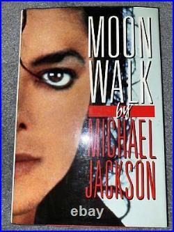 Moonwalk by Michael Jackson 1st edition/1st printing RARE MINT Stamp Signed Auto