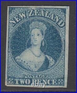 SG 39 New Zealand 1862-64 printed by John Davies 2d blue. Fine mint without gum