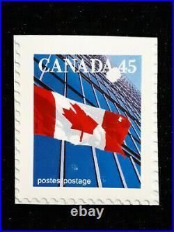 STAMP CANADA 1995 THE fLAG 45 CENTS SUN PRINT ERROR