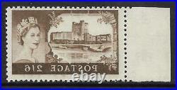 Sg 595a 2/6 Bradbury/Wilkinson Castles printed both sides UNMOUNTED MINT/MNH