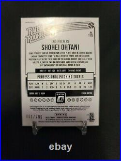 Shohei Ohtani 2018 Rookie Optic Aqua prizm Short Print 61/299 Angels