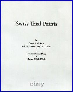 Swizertland Courvoisier Proof Full Sheet Rarest Of All Trial Prints Mint