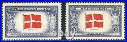 U. S. #920a Mint NH 5c Denmark, Reversed Print