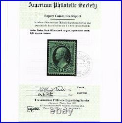 Very Scarce Genuine Scott #165 F-vf Mint Ng 1873 With Aps Cert Cbnc Printing