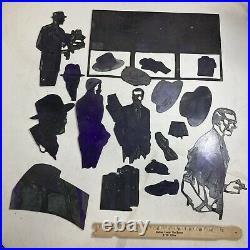 Vintage Printing Plate Block Letterpress Ink Stamp Fashion Lot 1950s Shudde Bros