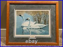 Vtg Lot 8 Limited Edition Federal Duck Stamp Prints Signed Framed 1980's 1990's