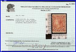 Weeda Canada 20 Mint OG 2c rose First printing perf 12 x 11.75, VGG cert CV$2500