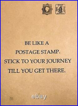 YOUR JOURNEY Signed by Emo free banksy photo MINT NEW STAMP ART un brown card