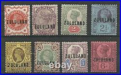 ZULULAND SG1-8 THE 1888-93 QV GB O/PRINT SET TO 6d FRESH MINT CAT £320