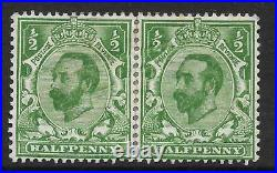 ½d Green Downey Head Printers Sheet Join with double print flaw MOUNTED MINT